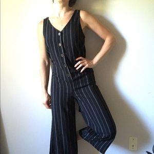Black Pinstripe onesie 🖤
